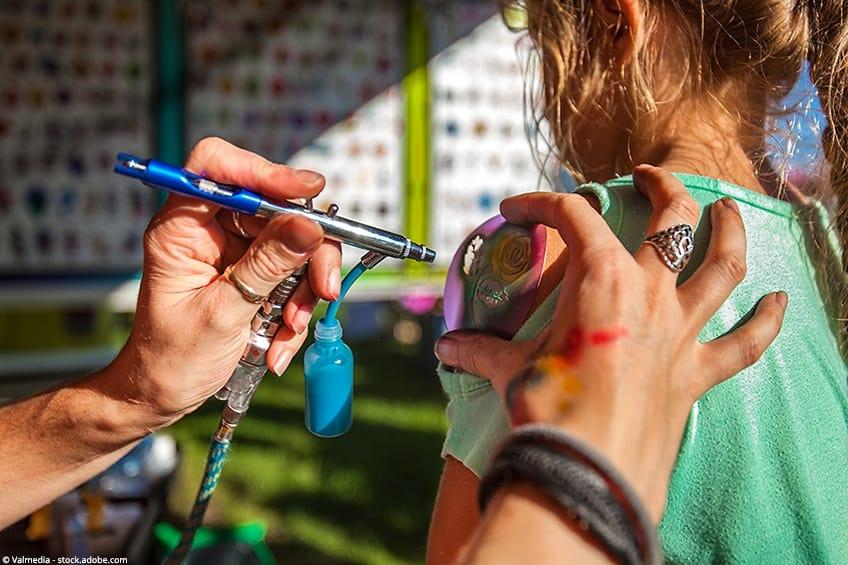 airbrush tattoo sjablonen
