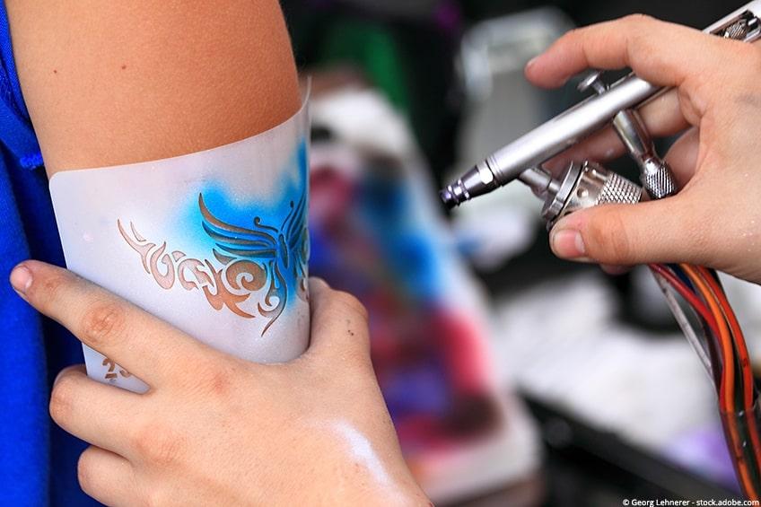 airbrush tattoo verf