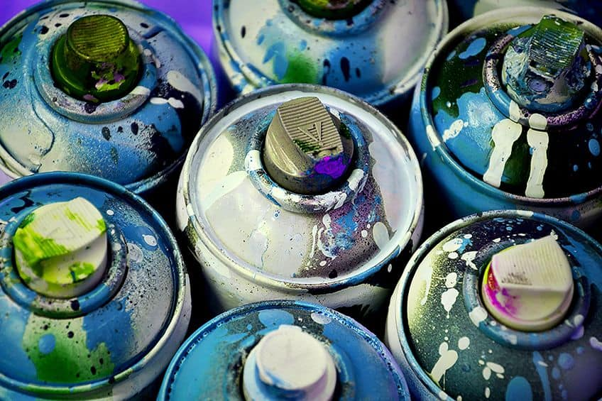 Cans for Spray Paint Art