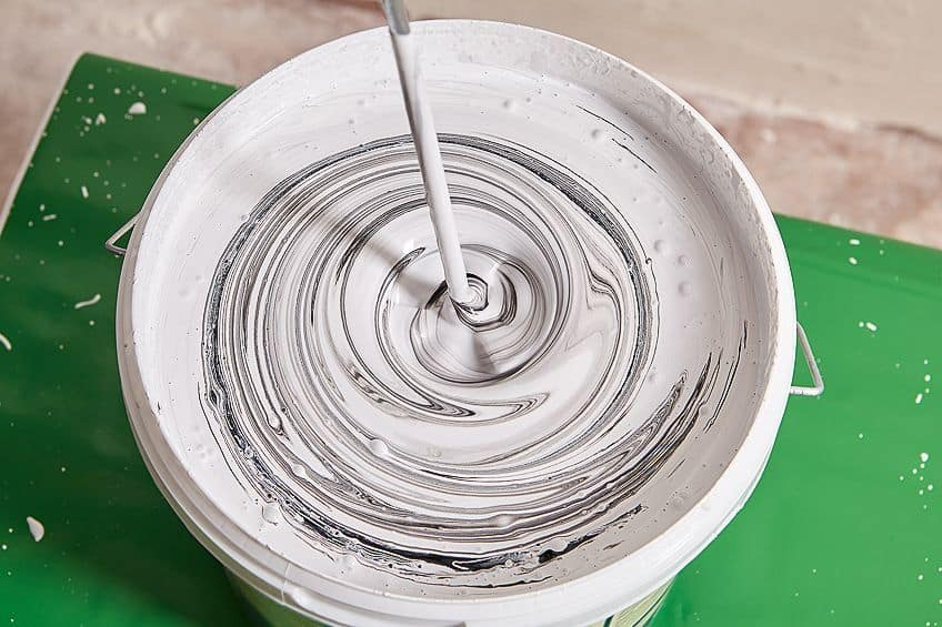 Mixing Paint for Indoor Paint Sprayer