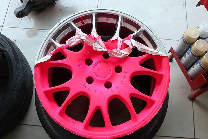 Peelable Wheel Paint