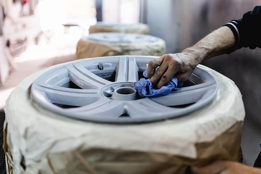 Preparing Paint Rims